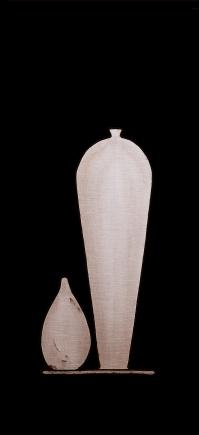 """""""Il vasaio degli dèi per il VII tavolinetto della regina Hatshepshut"""" 107x50cm,opera retroilluminata,agosto 2014"""