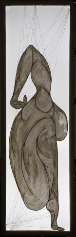 ''I danzatori degli dèi: I. ILLACHE'' 210x67cm opera retroilluminata,luglio 2006