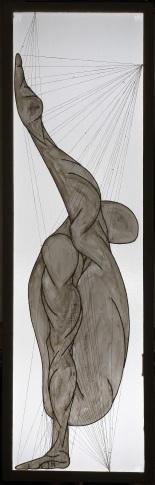 ''I danzatori degli dèi: III.Acàie'' 210x67cm opera retroilluminata,agosto 2006