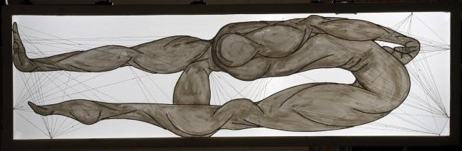 ''I danzatori degli dèi: II. ILESUS'' 67x210cm opera retroilluminata,agosto 2006