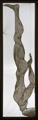 ''I danzatori gimnosofisti degli dèi: II.'' 210x67cm opera retroilluminata,agosto 2006
