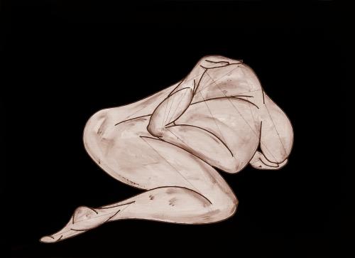 ''La naiade luminosa filatrice di sogni'' 108x150 cm opera retroilluminata dicembre 2014
